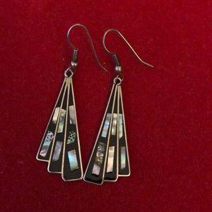 Jewelry - Vintage Alpaca Mexico Silver Pierced Earrings